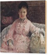 The Pink Dress Also Known As Poop - 1870 - Pc Wood Print