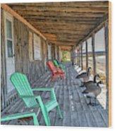 The Porch Wood Print