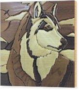 The Proud Husky Wood Print