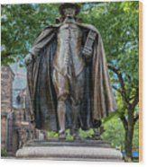 The Puritan Statue Wood Print