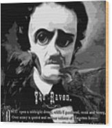The Raven Edgar Allan Poe Wood Print