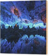 The Reed Flute Cave, In Guangxi Province, China Wood Print