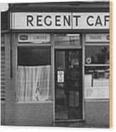 The Regent Cafe Wood Print