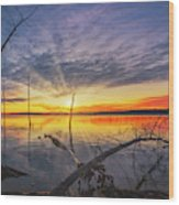 The Reservoir  Wood Print