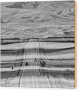 The Road From Casper Wood Print