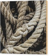 The Rope Wood Print