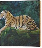 The Royal Bengal Tiger Wood Print