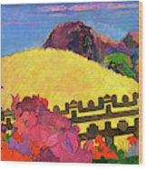 The Sacred Mountain - Digital Remastered Edition Wood Print