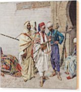 The Seller Of Arms Wood Print