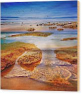 The Silent Morning Tide Wood Print