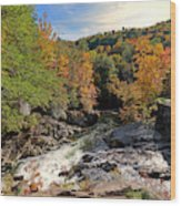 The Sinks On Little River Road In Smoky Mountains National Park Wood Print