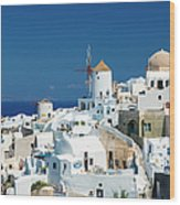 The Small Greek Village Of Oia Wood Print