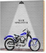 The Sportster Vintage Motorcycle Wood Print