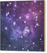 The Stars Constellation Of Orion Wood Print