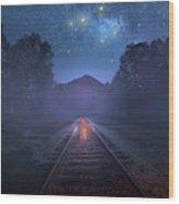 The Stars Of Locust Ridge Wood Print