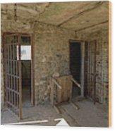 The Stone Jailhouse Interior Wood Print