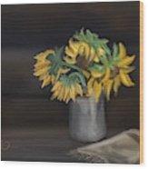 The Sun Flowers  Wood Print