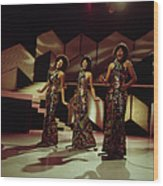 The Supremes Perfom On Tv Show Wood Print