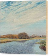 The Susaa River At Naestved, Denmark Wood Print