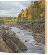 The Swinging Bridge at Jay Cooke Wood Print