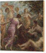 The Temptation Of Saint Anthony. Artist Wood Print
