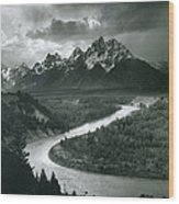 The Tetons - Snake River Wood Print