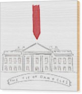 The Tie Of Damocles Wood Print