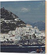 The Town Of Amalfi Wood Print