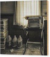 The Typewriter Wood Print