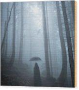 The Umbrella Wood Print