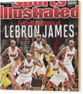 The Unique Ubiquity Of LeBron James Sports Illustrated Cover Wood Print