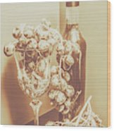 The Vine Cellar Wood Print