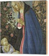 The Virgin Adoring The Sleeping Christ Child Wood Print