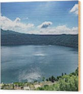 The Volcanic Beach Wood Print
