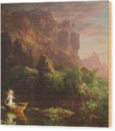 The Voyage Of Life Childhood, 1842 Wood Print