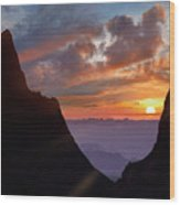 The Window At Sunset, Big Bend National Wood Print