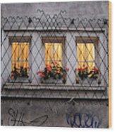 The Windows Of Sofia Wood Print