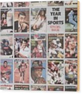 The Year In Sports Issue... Sports Illustrated Cover Wood Print
