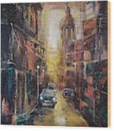 The Yellow Street Wood Print