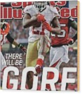 There Will Be Gore Super Bowl Xlvii Preview Issue Sports Illustrated Cover Wood Print