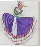 This Charming Dancer Is Wearing A Wood Print