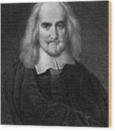 Thomas Hobbes English Philosopher, Engraving Wood Print
