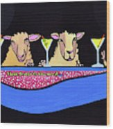 Three Sheeps To The Wind  Wood Print