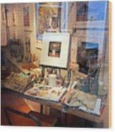 Through An Artists Window Wood Print