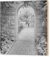 Through The Garden Gate Wood Print