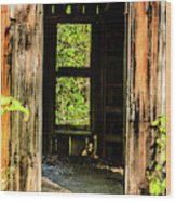 Through The Old Blacksmith Shop Wood Print