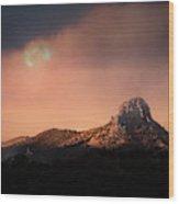 Thumb Butte Wood Print