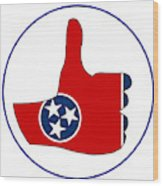 Thumbs Up Tennessee Wood Print