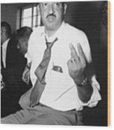 Thurgood Marshall At Naacp Meeting Wood Print