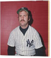 Thurman Munson Wood Print